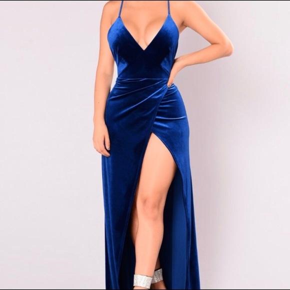 fe9a0984c9b Fashion Nova Dresses   Skirts - Royal Blue Velvet Dress